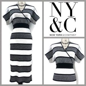 New York & Company Pencil / Cross Front Dress